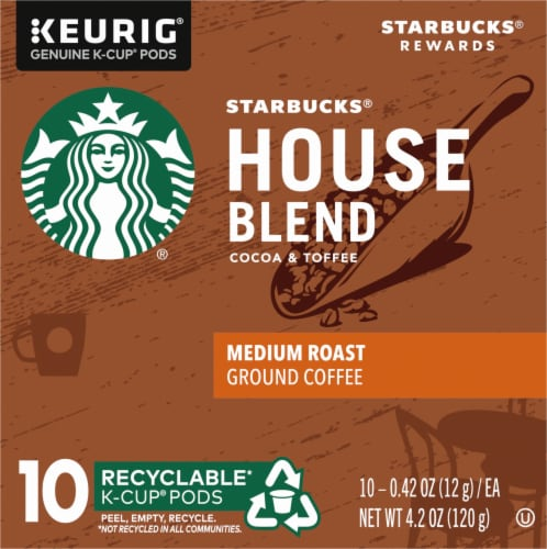 Starbucks House Blend Medium Roast Coffee K-Cup Pods Perspective: left
