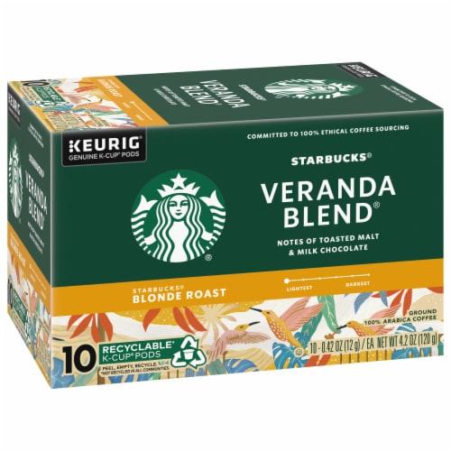Starbucks Veranda Blend Blonde Roast Coffee K-Cup Pods Perspective: left
