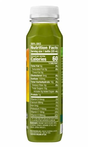 Evolution Fresh Organic Greens & Ginger Cold-Pressed Vegetable & Fruit Juice Blend Perspective: left