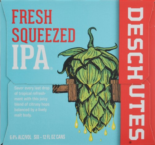 Deschutes Brewery Fresh Squeezed IPA Perspective: left