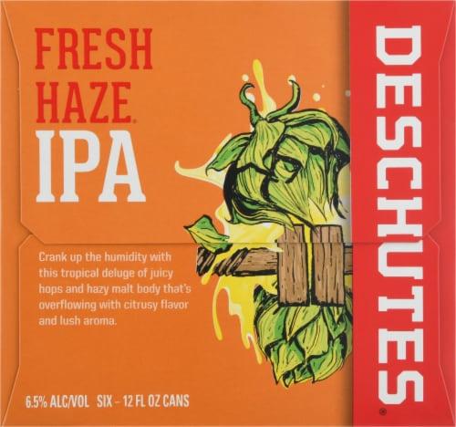 Deschutes Fresh Haze IPA Beer Perspective: left