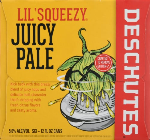 Deschutes Brewery Lil' Squeezy Juice Ale Perspective: left