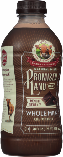 Promised Land Dairy Midnight Chocolate Ultra-Pasteurized Whole Milk Perspective: left