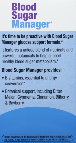 Enzymatic Therapy Blood Sugar Manager Tablets Perspective: left