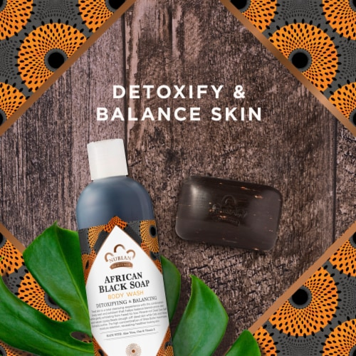 Nubian Heritage Sulfate-Free African Black Soap Detoxifying Body Wash Perspective: left