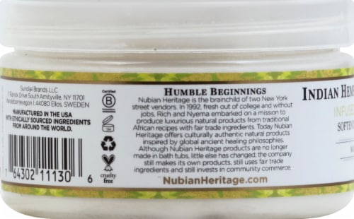Nubian Heritage Shea Butter Infused With Indian Hemp & Haitian Vetiver Perspective: left