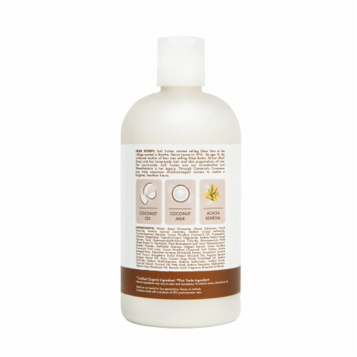 Shea Moisture Daily Hydration 100% Virgin Coconut Oil Shampoo Sulfate Free Perspective: left