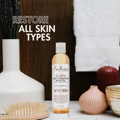 Shea Moisture 100% Virgin Coconut Oil Daily Hydration Body Oil Perspective: left