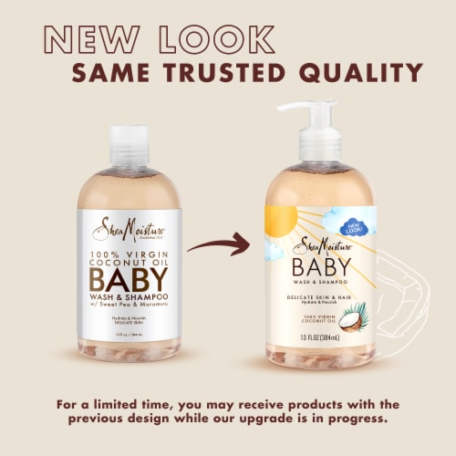 Shea Moisture 100% Virgin Coconut Oil Baby Wash & Shampoo Perspective: left