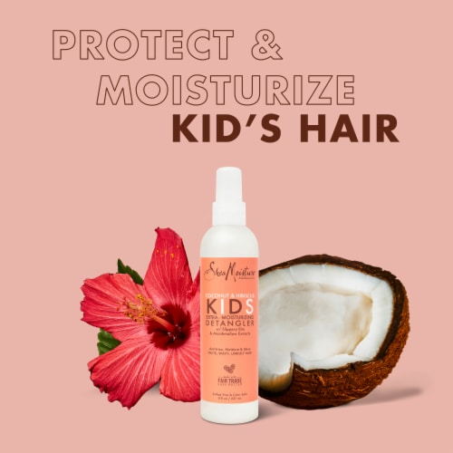 SheaMoisture® Kids Coconut & Hibiscus Detangler with Shea Butter for Curly Hair Perspective: left
