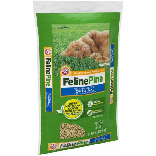 Feline Pine Original Non-Clumping Cat Litter Perspective: left