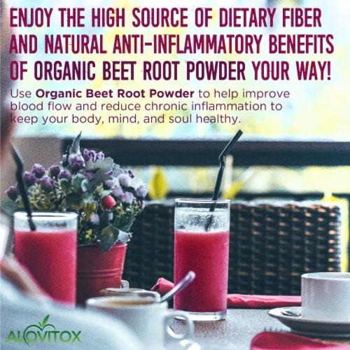 Certified Organic Beet Root Powder 16 oz Raw Vegan & Gluten Free (Beet Root Powder, 16 oz) Perspective: left