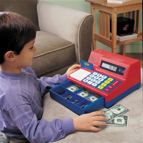 Learning Resources® Pretend & Play Calculator Cash Register Perspective: left