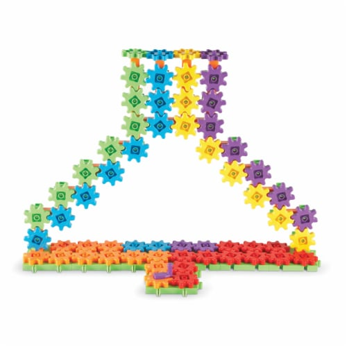Learning Resources® Gears! Gears! Gears! Super Building Set Perspective: left