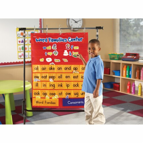 Learning Resources® Word Families & Rhyming Center Pocket Chart Perspective: left