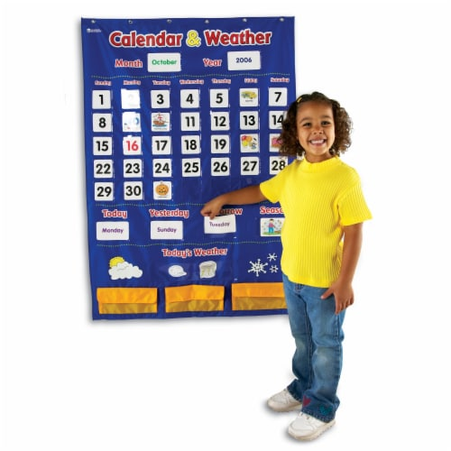 Learning Resources® Calendar and Weather Pocket Chart Perspective: left