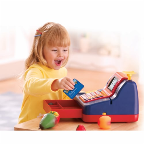 Learning Resources® Pretend & Play Teaching Cash Register Perspective: left