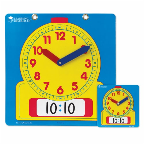 Learning Resources® Write & Wipe Clocks Classroom Set Perspective: left