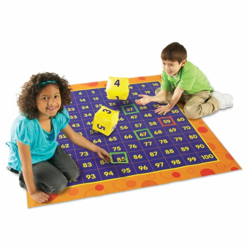 Learning Resources® Hip Hoppin' Hundred Mat Perspective: left
