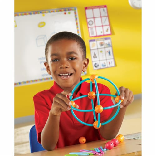 Learning Resources® Geometric Shapes Building Set Perspective: left