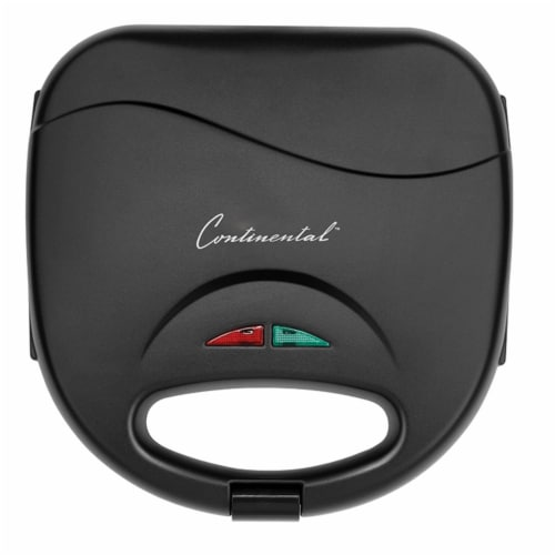 Continental 2-Serve Indoor Contact Grill and Sandwich Maker, Black Perspective: left