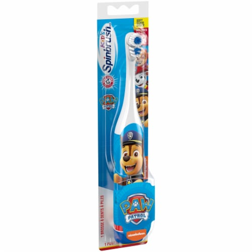 Arm & Hammer Kid's Spinbrush Paw Patrol Battery-Powered Toothbrush Perspective: left