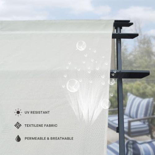 Kumo 10'x8' Pergola Gazebo Canopy Outdoor Patio Garden Steel Frame Sun Shelter Perspective: left
