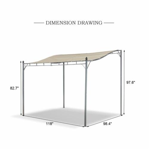 Kumo Sunshade Awning Gazebo Outdoor Patio Tilt Tent Canopy Shelter Steel Frame Perspective: left