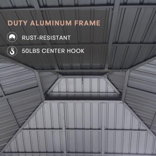 Kumo 10ft x 12ft Hardtop Gazebo Outdoor Metal Canopy Gazebo with Netting Perspective: left
