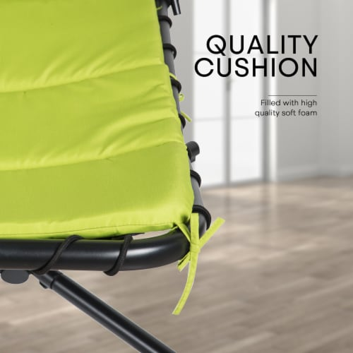 Kumo Hanging Chaise Lounge Chair Canopy Floating Chaise Lounger Swing Hammock Chair Perspective: left