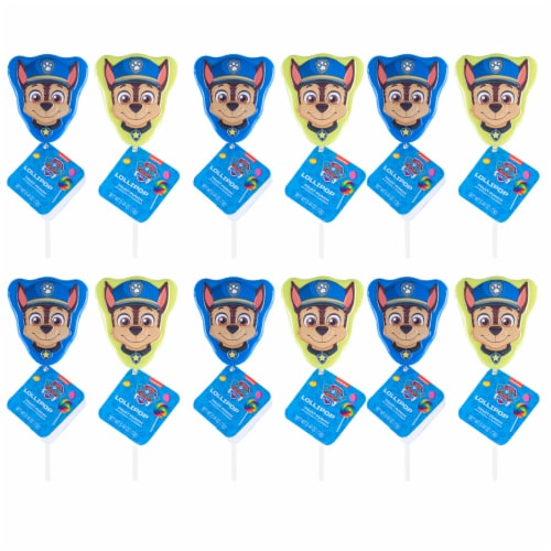 Paw Patrol Lollipop Party Favors with Collectible Keepsake Tin Perspective: left