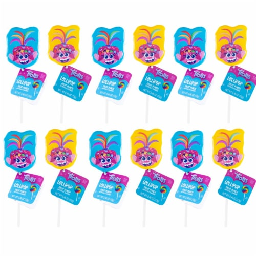 Trolls World Tour Lollipop Party Favors with Collectible Keepsake Tin Perspective: left
