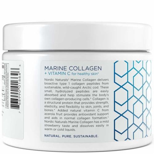 Nordic Naturals Strawberry Marine Collagen Perspective: left