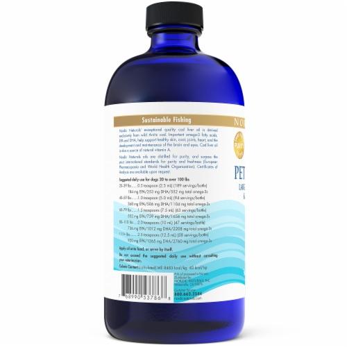 Nordic Naturals Pet Cod Liver Oil Dog Supplement Perspective: left