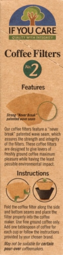 If You Care No. 2 Size Coffee Filters Perspective: left