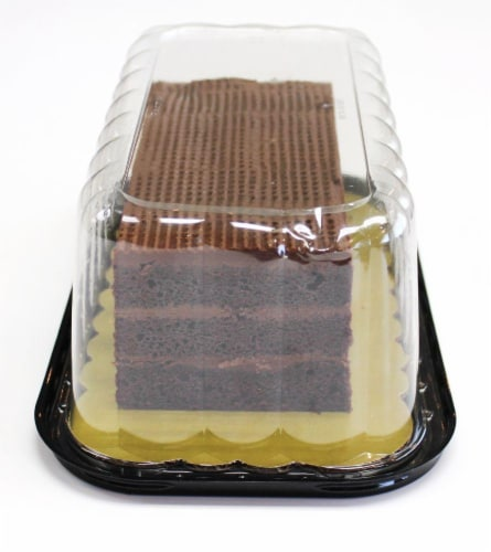 Bakery Chocolate Layer Cake Perspective: left