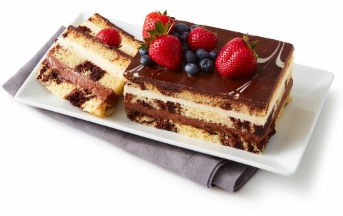 Bakery Tuxedo Truffle Mousse Cake Perspective: left