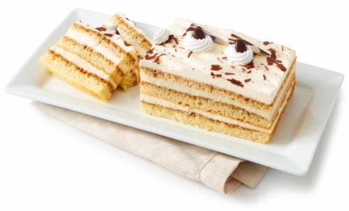 Bakery Tiramisu Layer Cake Perspective: left