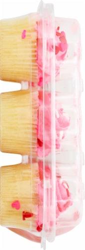 Two-Bite Valentines Vanilla Cupcakes Perspective: left