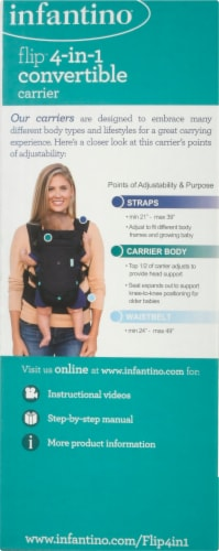 Infantino Flip 4-In-1 Convertible Carrier Perspective: left