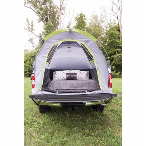 Napier 19 Series Backroadz Full Size Regular Bed 2 Person Truck Tent, Gray/Green Perspective: left