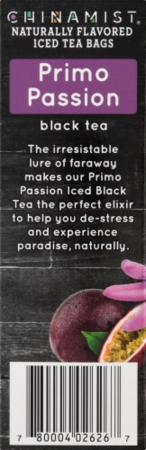 China Mist Primo Passion Naturally Flavored Iced Black Tea Bags Perspective: left