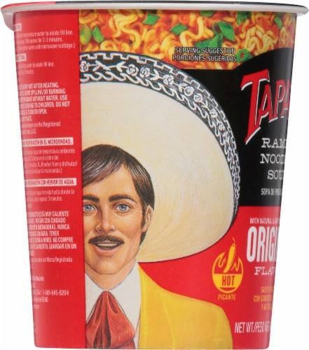 Tapatio Ramen Original Soup Cup Perspective: left