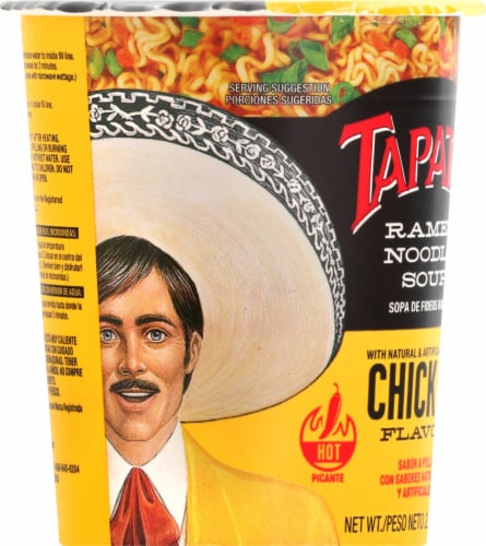 Tapatio Ramen Chicken Soup Cup Perspective: left