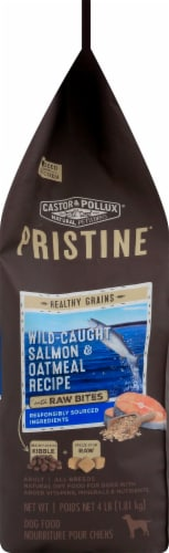 Castor & Pollux Pristine Wild-Caught Salmon and Oatmeal Recipe Dry Adult Dog Food Perspective: left