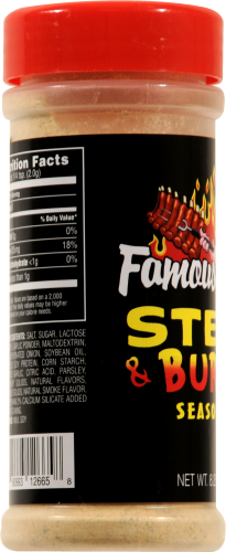 Famous Dave's Steak & Burger Seasoning Perspective: left