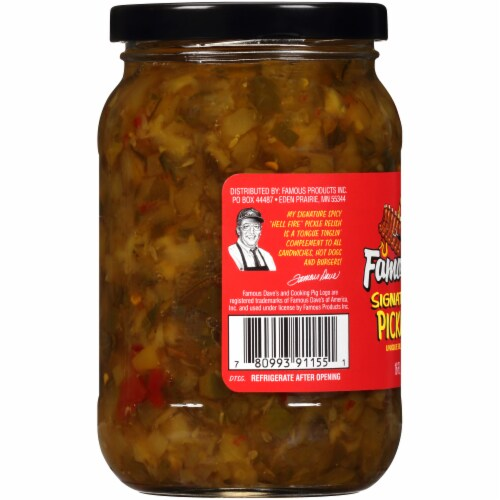 Famous Dave's Signature Spicy Pickle Relish Perspective: left