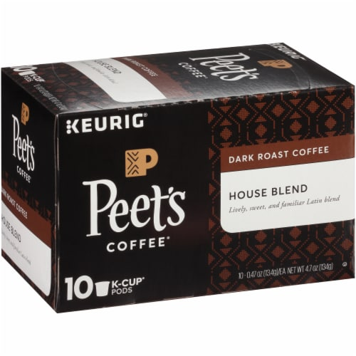 Peet's Coffee House Blend Dark Roast Coffee K-Cup Pods Perspective: left