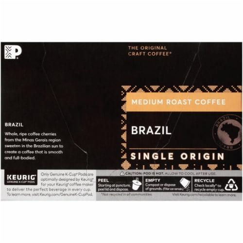 Peet's Coffee Brazil Medium Roast Coffee K-Cup Pods Perspective: left