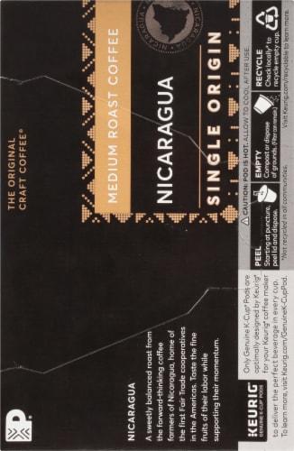 Peet's Coffee Nicaragua Adelante Medium Roast Coffee K-Cup Pods 10 Count Perspective: left